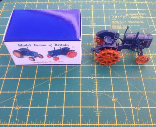 "A Britains Fordson Tractor Fordson Major E27N ""  Spudded Wheels "" Finished in Blue copy model """